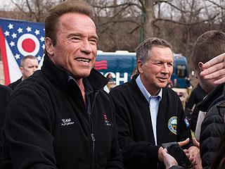 Arnold Schwarzenegger Endorses John Kasich for President