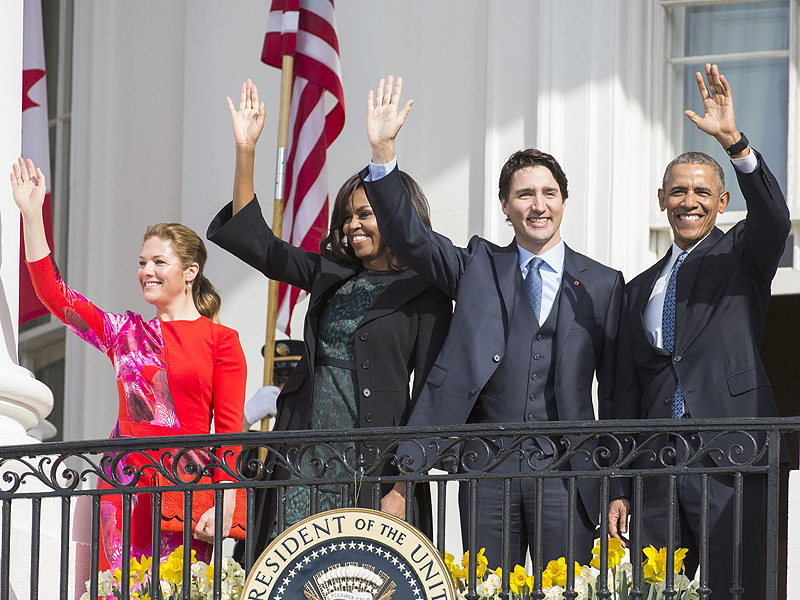 Canada Prime Minister Justin Trudeau Meets Obamas in D.C.