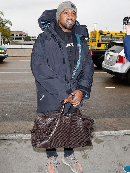 Kim Kardashian West Sends Husband Kanye Off with a Kiss at LAX| Kanye West, Kim Kardashian