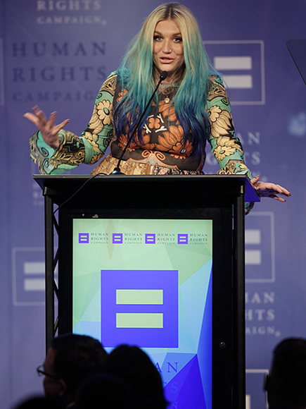 Kesha Tears Up While Receiving LGBT Equality Award During Ongoing Legal Battle with Dr. Luke: 'You Are All Beautiful Just as You Are'| Kesha