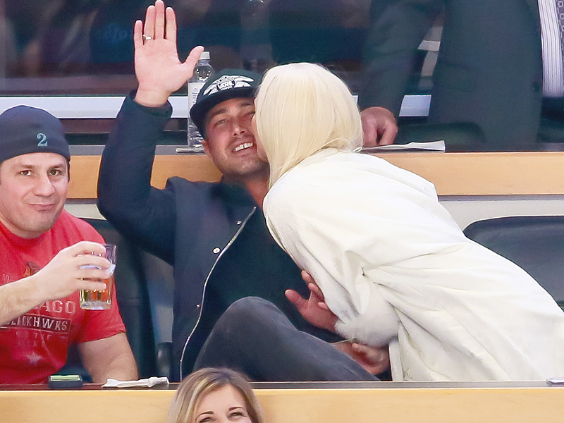 Lady Gaga Smooches Up Fiancé Taylor Kinney for the Kiss Cam at a Hockey Game| People Scoop, Music News, Lady Gaga, Taylor Kinney