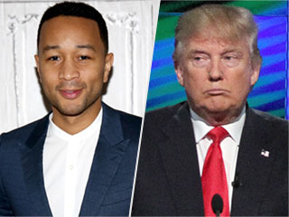 John Legend Calls Donald Trump 'Racist' in Twitter Feud with Presidential Candidate's Son
