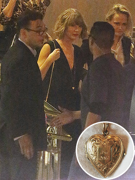 Taylor Swift Steps Out in Locket Gifted to Her by Boyfriend Calvin Harris