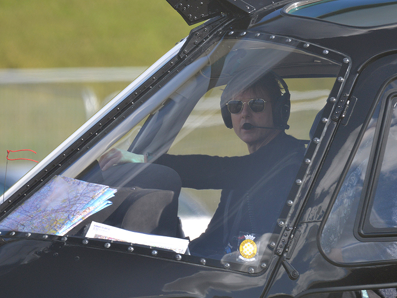 Tom Cruise Pilots a Helicopter While in London