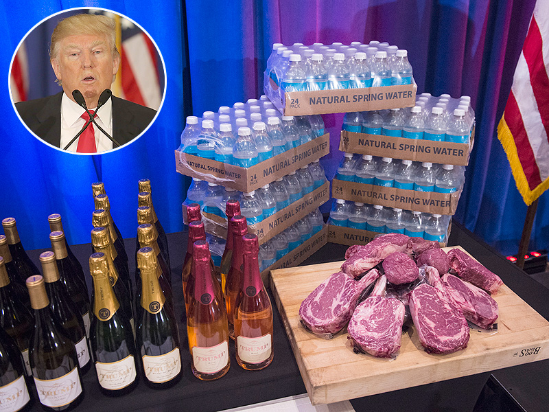 Donald Trump Peddles His Steaks, Wine and Magazine as He Calls on GOP to Unite Behind Him After Michigan Victory| 2016 Presidential Elections, politics, Donald Trump, Mitt Romney