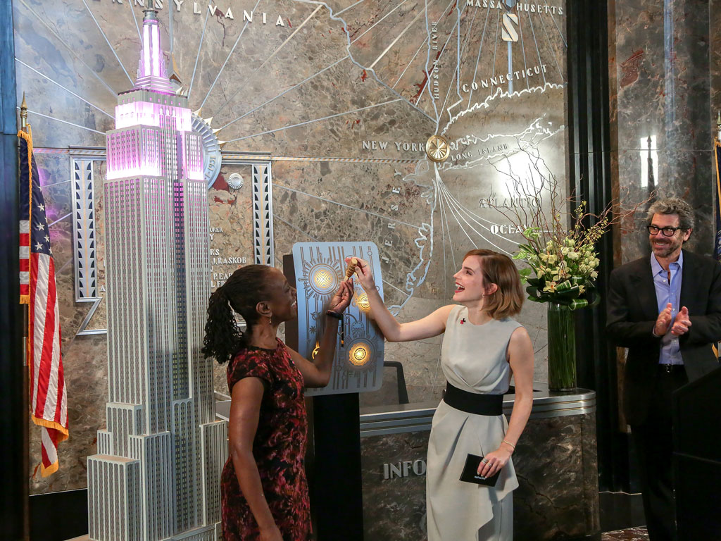 Emma Watson Turns Empire State Building Pink for International Women's Day