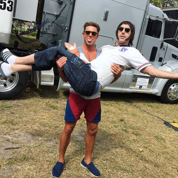 Need a Lift? Zac Efron Carries Sacha Baron Cohen on Baywatch Set – Before Flaunting Ripped Muscles Doing Pull-Ups| Baywatch, Movie News, Sacha Baron Cohen, Zac Efron