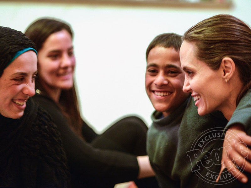 See Angelina Jolie Pitt's Heartfelt Reunion with Teen Syrian Refugee Hala and Her Family| United Nations, Good Deeds, Movie News, Angelina Jolie, Shiloh Jolie-Pitt