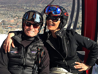 Michael Douglas Gives His Romantic Aspen Spring Break with Catherine Zeta-Jones a Thumbs Up