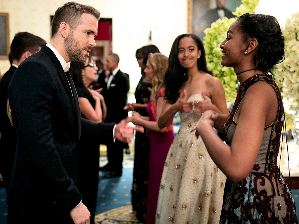#SiblingGoals! Malia Obama Adorably Cheers on Little Sister Sasha as She Fangirls Over Ryan Reynolds| Malia Obama, Ryan Reynolds, Sasha Obama