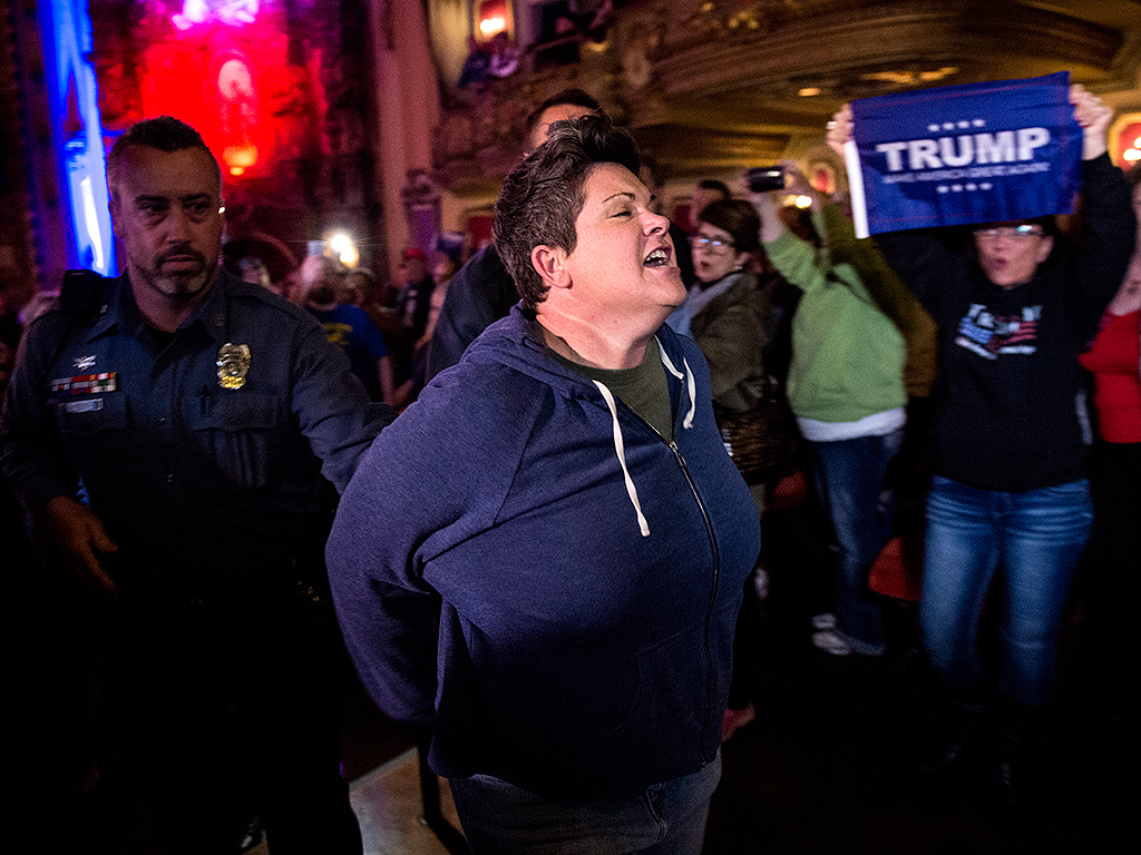 Donald Trump Calls for Rally Protestors to Be Arrested After More Chaos in Kansas City: 'I'll File Whatever Charges You Want'  2016 Presidential Elections, Donald Trump