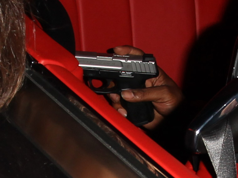 Tyga Packs on the PDA with Kylie Jenner at a Club Before Leaving with a Friend Holding What Appears to Be a Gun| Kylie Jenner, Tyga