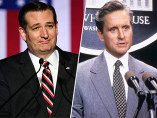 Ted Cruz Channels Michael Douglas in The American President to Defend Wife Heidi Following Donald Trump Feud