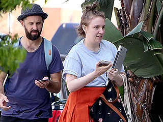 Lena Dunham Steps Out in L.A. Weeks After Being Hospitalized for Ruptured Ovarian Cyst