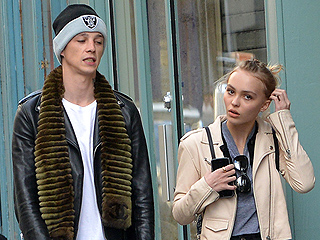 Lily-Rose Depp Steps Out with British Model Ash Stymest, 24