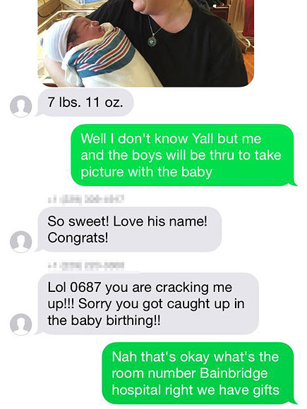 Couple Accidentally Texts Strangers About Newborn, Strangers Show Up to Congratulate Them at Hospital| People Scoop, Around the Web, Real People Stories, The Daily Smile