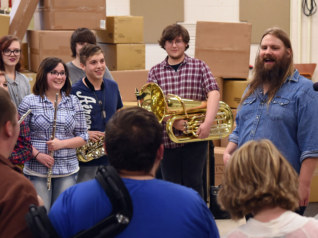 Chris Stapleton Goes Back To High School And Donates