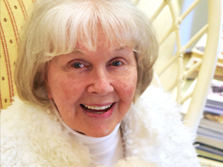 Doris Day Poses with Her Adorable Dog Squirrely in an Exclusive Photo on Her 92nd Birthday