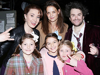 Katie Holmes and Suri Cruise Meet the Cast of Broadway's School of Rock