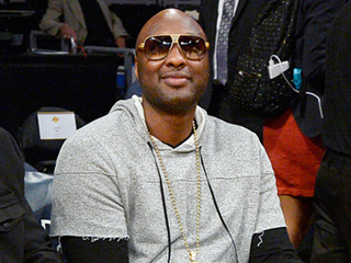 Lamar Odom Attends Los Angeles Lakers Game to Support Former Team and Longtime Friend Kobe Bryant