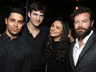 Ashton Kutcher and Mila Kunis Reunite with That '70s Show Cast Mates at a Special Screening of The Ranch