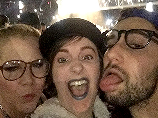 Amy Schumer and Lena Dunham Attend Rihanna's Concert Together – and Run into Chris Rock!