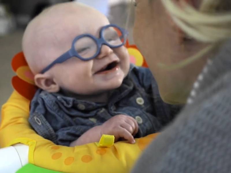 4-Month-Old Baby Sees His Mom for the First Time After Receiving New Glasses| Medical Conditions, Real People Stories, The Daily Smile