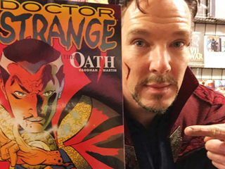 Benedict Cumberbatch Conjures Surprise Appearance as Doctor Strange at N.Y.C. Comic Shop