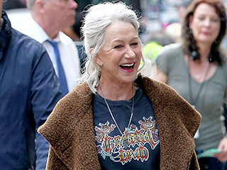 Helen Mirren, 70, Goes Full Rocker on Film Set, Complete with Grateful Dead Tee – and Still Looks Fabulous