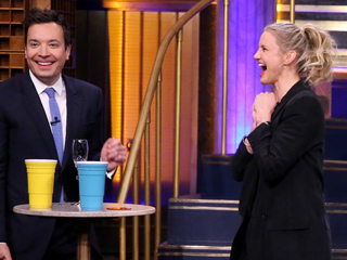 Prune Juice & Salsa Verde? Watch Cameron Diaz & Jimmy Fallon Down Disgusting Cocktails During Drinking Game