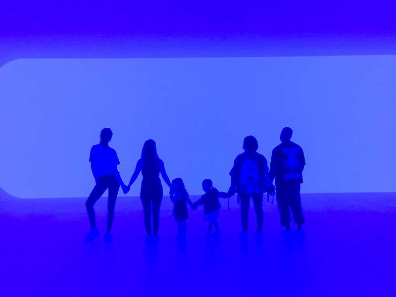 Kardashian family at LACMA with kids