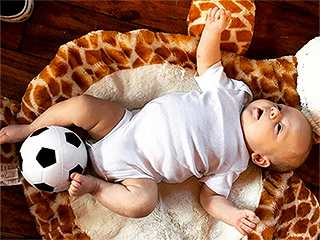 Louis Tomlinson's Son Freddie Plays with a Soccer Ball, Meets His Aunts for the First Time