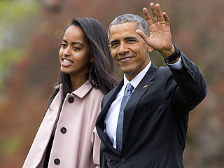 Jet Setters! Barack Obama is Accompanied by Daughter Malia on Cross-Country Trip