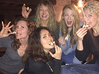 Salma Hayek Spends 'Lively' Night Out With Blake Lively and Family