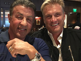 Sylvester Stallone and Dolph Lundgren Catch Up Over Lunch