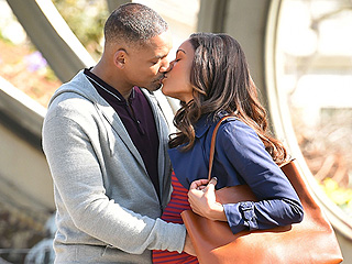 Will Smith Shares On-Screen Kiss With Costar Naomie Harris on Set of Collateral Beauty