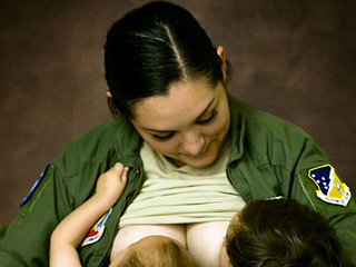 A Showgirl, an Airwoman and More: Breastfeeding Moms Pose for Photos in Their Workplace