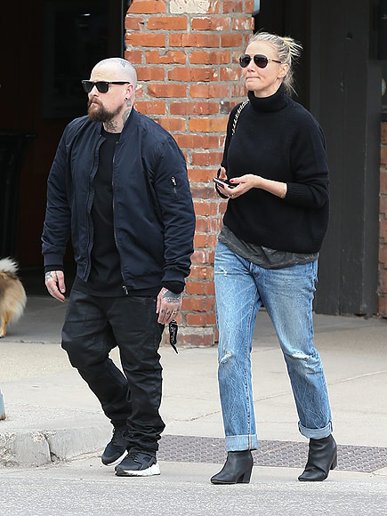 Cameron Diaz and Benji Madden Go for Romantic Stroll in Aspen: Photo