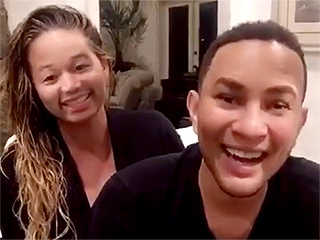 WATCH: John Legend and Chrissy Teigen Try Out Face Swap – 'I Am Going to Vomit'