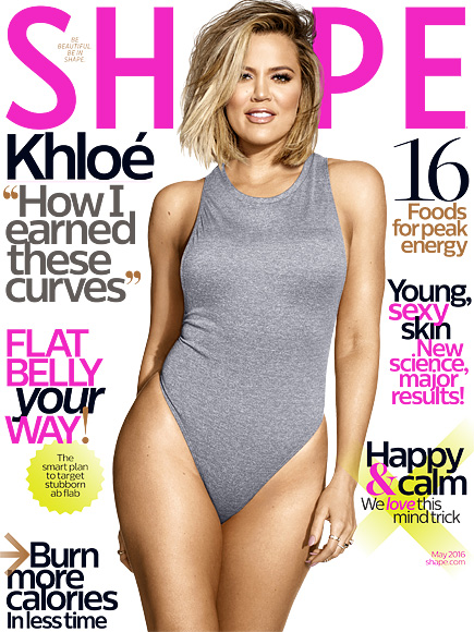 """Khloé Kardashian on Her Shape Cover: 'How Crazy Is It That the """"Fat One"""" Is on the Cover, Ha!'  Diet & Fitness, Fitness, Bodywatch, Celebrity Weight Loss, Khloe Kardashian"""