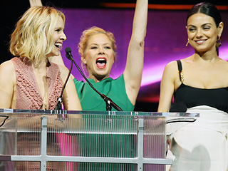 Mila Kunis, Christina Applegate and Kristen Bell Fake-Insult Each Other at CinemaCon – and It's Amazing