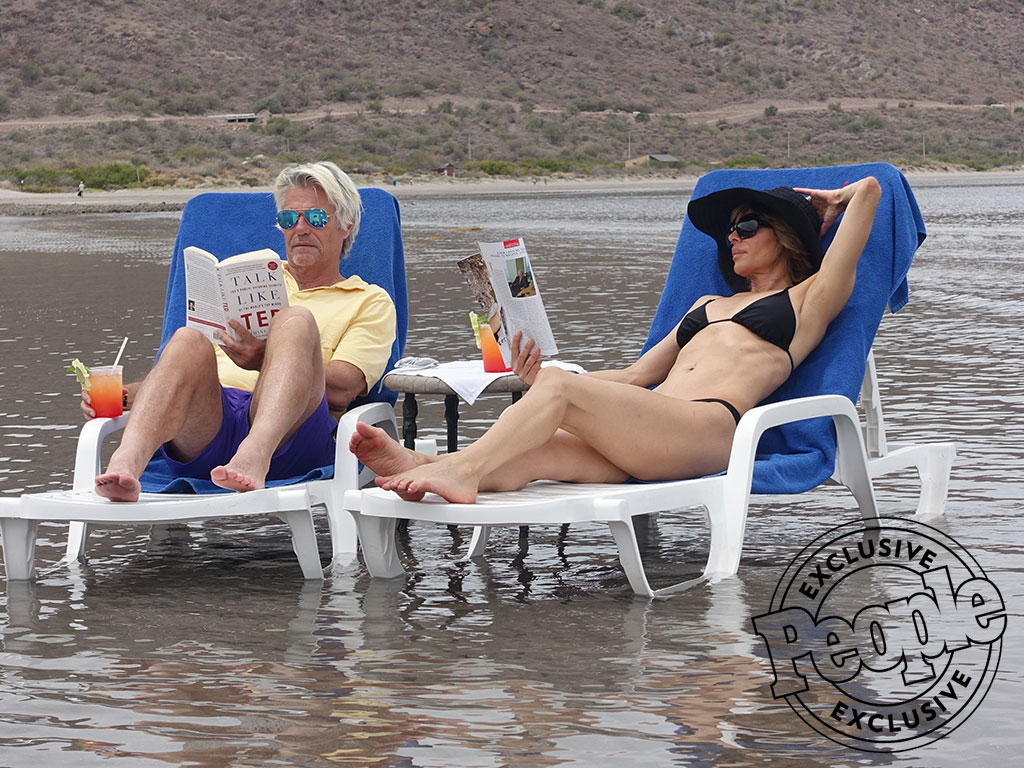 Lounge Lovers! Lisa Rinna and Harry Hamlin Turn Spring Break with Their Girls into a Romantic Getaway| Couples, Real Housewives of Beverly Hills, People Picks, TV News, Harry Hamlin, Lisa Rinna