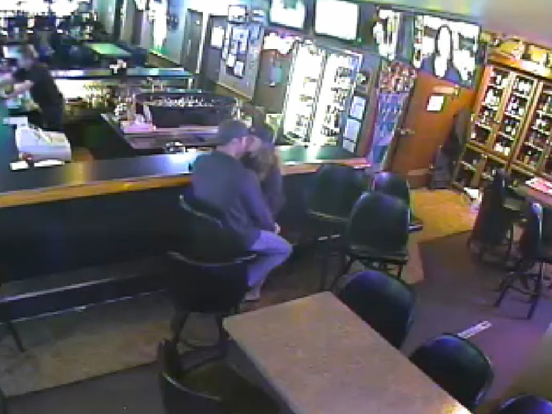 Couple Kisses Through Apparent Armed Robbery at Montana Bar