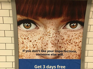 Commuters Outraged at Match.com Ads Calling Freckles 'Imperfections'