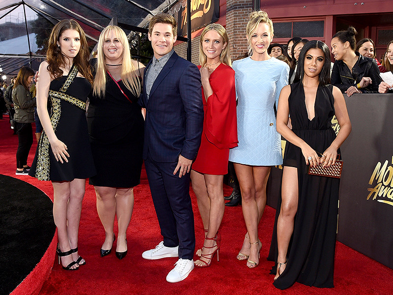 Pitch Perfect 2 Costars Adam DeVine and Rebel Wilson Win the Coveted Best Kiss Award at MTV Movie Awards| MTV Movie Awards, Pitch Perfect, Movie News, Adam DeVine, Rebel Wilson