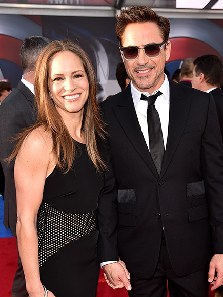 Robert Downey Jr. Attends Captain America: Civil War Premiere With Wife