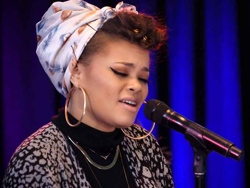 See Andra Day Perform a Beautifully Stripped Down Version of 'Rise Up' on Backstage with Citi| Music News, People Picks, Stevie Wonder