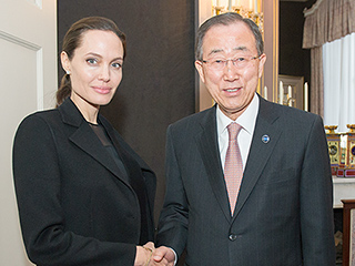 Angelina Jolie Pitt Advocates for Victims of War Crimes During Humanitarian Trip to the Netherlands