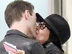 Courteney Cox Gets a Kiss from Former Fiancé Johnny McDaid After Flying into London