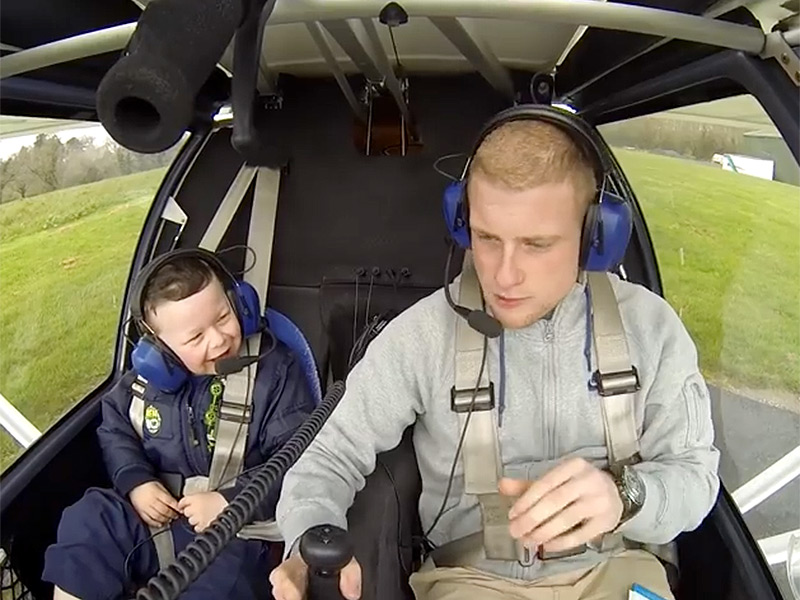 See the Touching Moment a Pilot Flies His Little Brother with Williams Syndrome in a Helicopter for the First Time| Medical Conditions, Real People Stories, The Daily Smile
